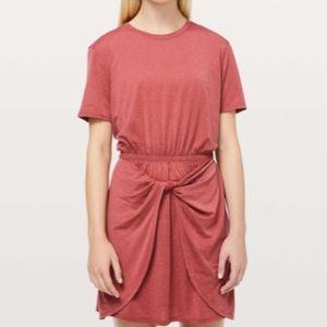 Lululemon Unwind Your Mind Dress Brick Rose 6 NWT